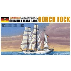 Aoshima 1:350 Gorch Fock 3-Masted German Sailing Ship Plastic Model Kit