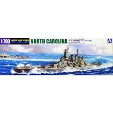 Aoshima 1:700 USS North Carolina Battleship Waterline Plastic Model Kit