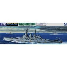 Aoshima 1:700 USS Washington Battleship Waterline Plastic Model Kit