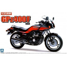 Aoshima 1:12 Kawasaki GPz400F 1984 Motorcycle Plastic Model Kit