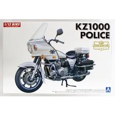 Aoshima 1/12 Kawasaki KZ1000 Police Motorcycle Plastic Model Kit