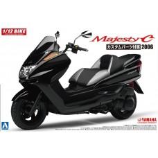 Aoshima 1:12 2006 Yamaha Majesty C Scooter Plastic Model Kit