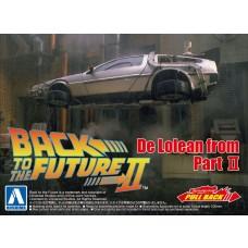 Aoshima 1/43 Back To The Future 2 Delorean Plastic Model Kit