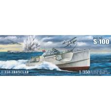 Aoshima 1:350 Ironclad S-boat S-100 Plastic Model Kit