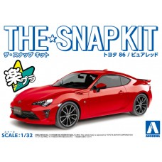 Aoshima 1:32 The Snap Kit Toyota 86 (Red) Plastic Model Kit