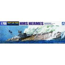 Aoshima 1/700 HMS Hermes Aircraft Carrier Plastic Model Kit