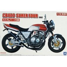 Aoshima 1:12 Honda CB400 Super4 1992 Motorcycle Plastic Model Kit