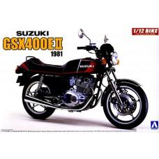 Aoshima 1/12 1981 Suzuki GSX400E II Motorcycle Plastic Model Kit