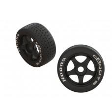 ARRMA DBoots Hoons 42/100 2.9 Belted 5-Spoke Tire Set
