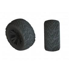 ARRMA Dboots Minokawa LP 4S Tire Set Glued (Black)