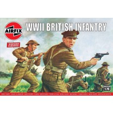 Airfix Vintage Classics 1:76 WWII British Infantry N. Europe Plastic Model Kit