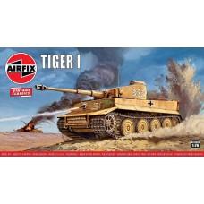 Airfix 1:76 Vintage Classics - Tiger 1 Tank Plastic Model Kit