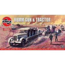 Airfix Vintage Classics 1:76 - 88mm Gun & Tractor Plastic Model Kit