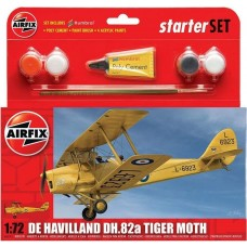 Airfix 1:72 Tiger Moth Starter Set Plastic Model Kit