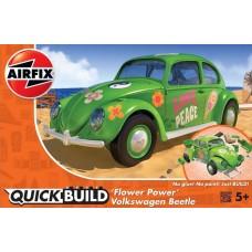 Airfix QUICKBUILD VW Beetle Flower Power Plastic Model Kit