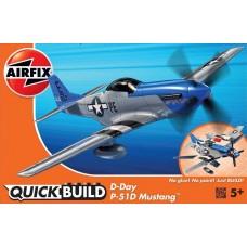 Airfix QUICKBUILD D-Day P-51D Mustang Plastic Model Kit
