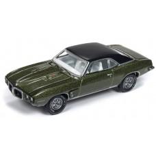 Auto World 1/64 1969 Pontiac Firebird Verdoro Green AW64192