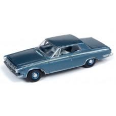 Auto World 1/64 1963 Dodge Polara 500 Blue Diecast Car