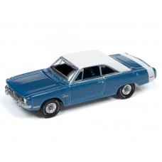 Auto World 1/64 1977 Dodge Dart Swinger Blue Poly Die-Cast