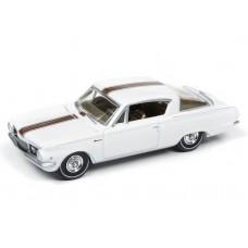 Auto World 1/64 1965 Plymouth Barracuda Gloss White Die-Cast