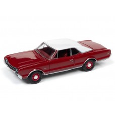 Auto World 1/64 1966 Olds 442 Target Red Die-Cast