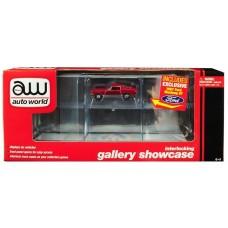 Auto World Six Car Interlocking Gallery Showcase w/ Exclusive 1:64 Diecast Car