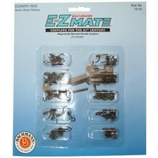 Bachmann HO E-Z Mate Center Shank Medium Coupler Economy Pack (25)