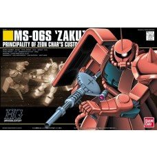 Bandai HG 1:144 MS-06S ZAKU II Char Custom Plastic Model Kit