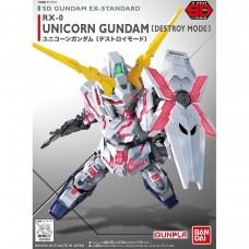 Bandai SD EX-Standard #05 Unicorn Gundam (Destroy Mode) Plastic Model Kit