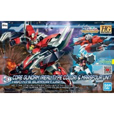 Bandai HG 1:144 Core Gundam (Real Type Color) & Marsfour Unit Plastic Model Kit