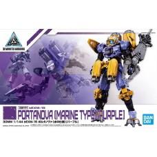 Bandai 30 MM 1/144 #22 bEXM-15 Portanova (Marine Type) Purple Plastic Model Kit