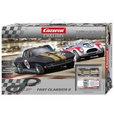 Carrera Evolution Fast Classics 2 1/32 Scale Analog Slot Car Set