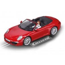 Carrera Evolution 1/32 Scale Porsche 911 Carrera S Cabriolet Red Slot Car