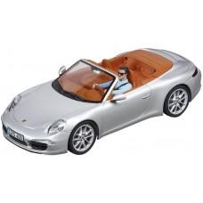 Carrera Evolution 1/32 Scale Porsche 911 Carrera S Cabriolet Silver Slot Car