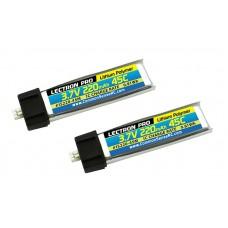 Common Sense RC Lectron Pro 3.7V 220mAh 45C Lipo Battery 2-Pack