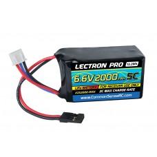 Common Sense RC 6.6v 2000mAh LiFe hump RX pack W/servo connector