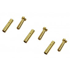 Common Sense 4mm Low Profile Bullet Connectors 3 Male/Female