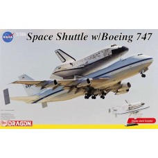 Dragon 1:144 NASA Space Shuttle w/ Boeing 747 Plastic Model Kit