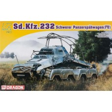 Dragon Models 1/72 Sd.Kfz.232 Schwerer Panzerspahwagen (Fu) Plastic Model Kit