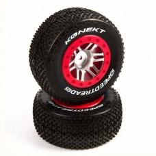 Duratrax SpeedTreads Konect SC Mounted Tires Slash/Slash 4x4 (2)