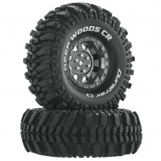 "Duratrax Deep Woods CR C3 1.9"" Mounted Crawler Tires"