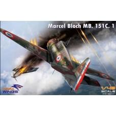 Dora Wings 1:48 Marcel Bloch MB.151C.1 Plastic Model Kit