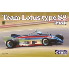 Ebbro 1:20 1981 Lotus Type 88 Team Lotus F1 Race Car Plastic Model Kit