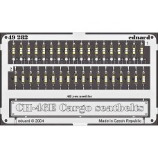 Eduard 1:48 Seatbelts CH46E Sea Knight Cargo Type Photo-etched Parts