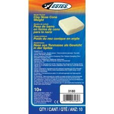 Estes Clay Nose Cone Weight