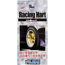 "Fujimi 1:24 Racing Hart 14"" Tire & Wheel Set Plastic Model Kit"