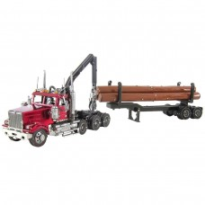 Fascinations Metal Earth Western Star Log Truck & Trailer Model