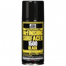 Gunze-Sangyo Mr. Finish Surfacer Black 1500 Lacquer Spray Paint