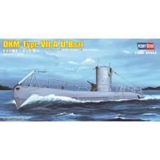 Hobby Boss 1:350 DKM Type VII-A U-Boat Plastic Model Kit