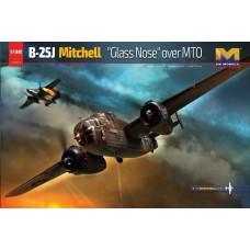 HK Models 1/32 B-25J Glass Nose Over MTO Plastic Model Kit